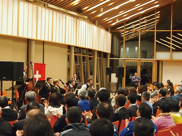 Sunstar holds a traditional Swiss music concert