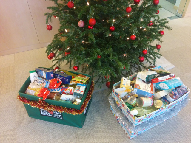 Sunstar Suisse collects food for the less fortunate