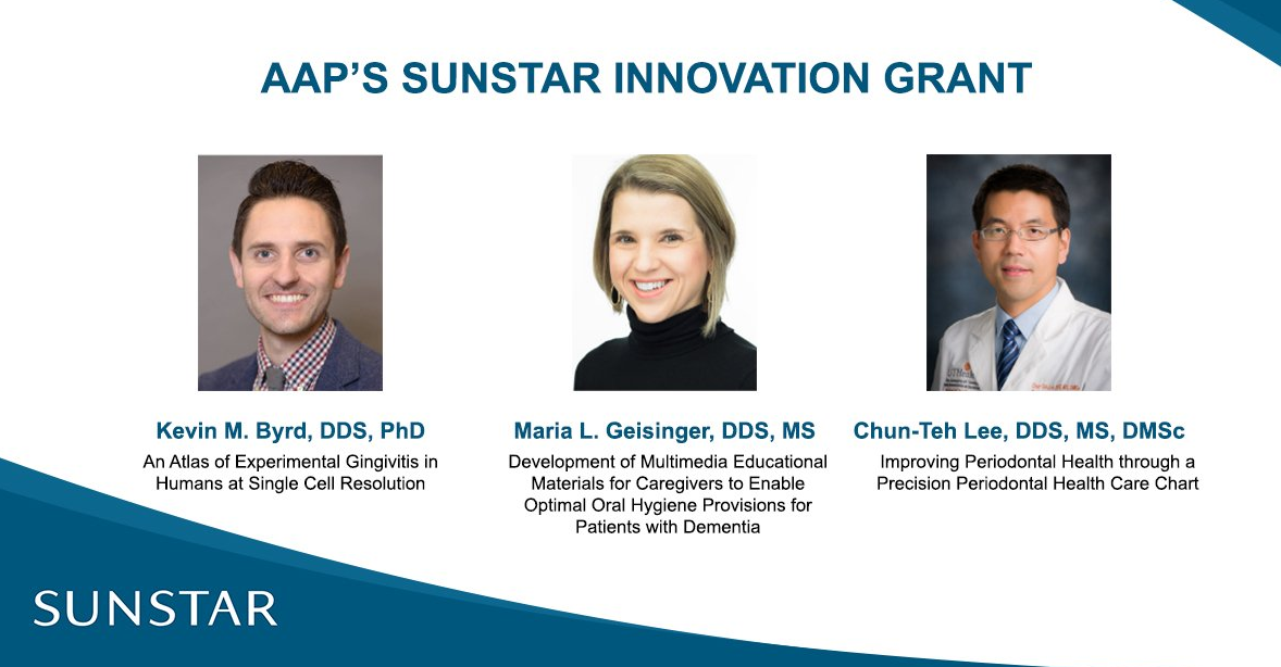 American Academy of Periodontology, Sunstar Announce 2019 Innovation Grant Recipients