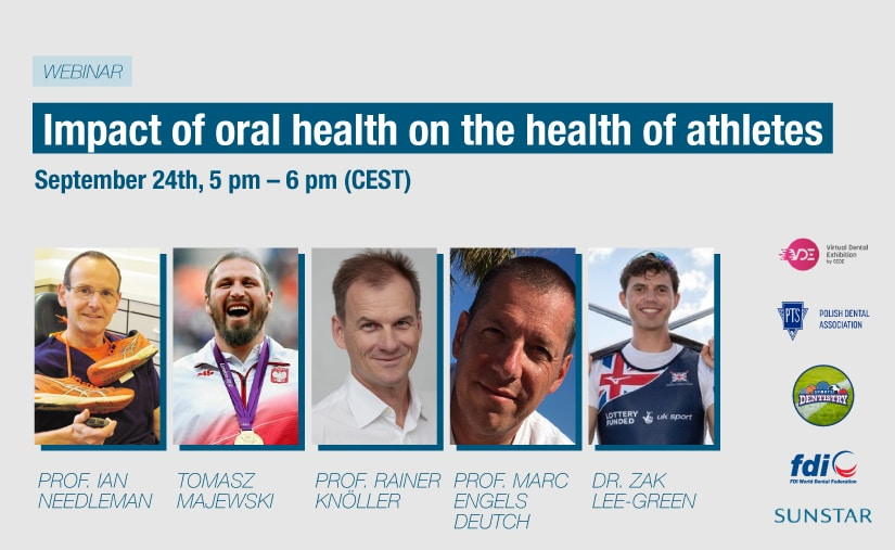 Top dental experts and athletes to join unique global webinar –   'The impact of oral health on the health of athletes'